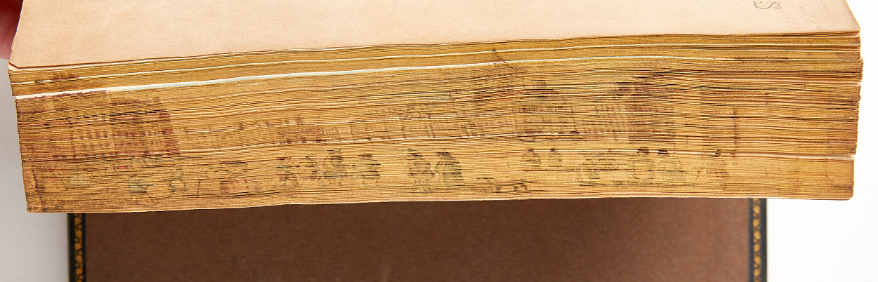Walter Scott with fore-edge painting