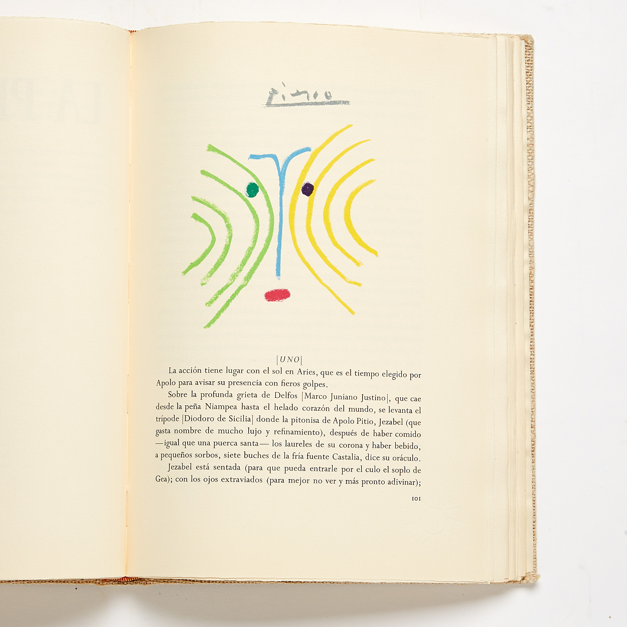 Coloured illustrations after Picasso 1962