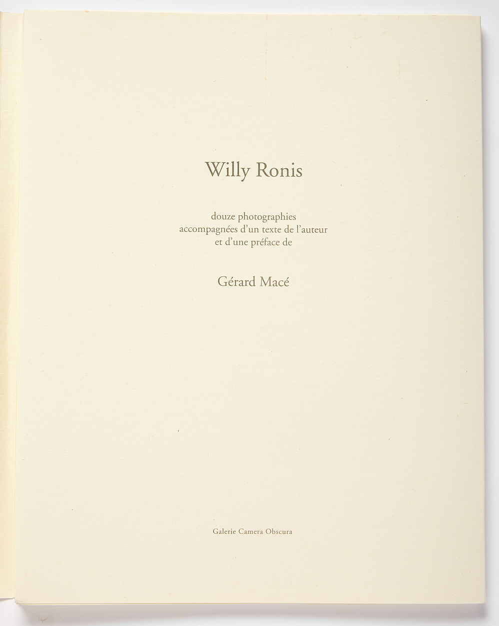 Willy Ronis Portfolio signed with 12 collotypes
