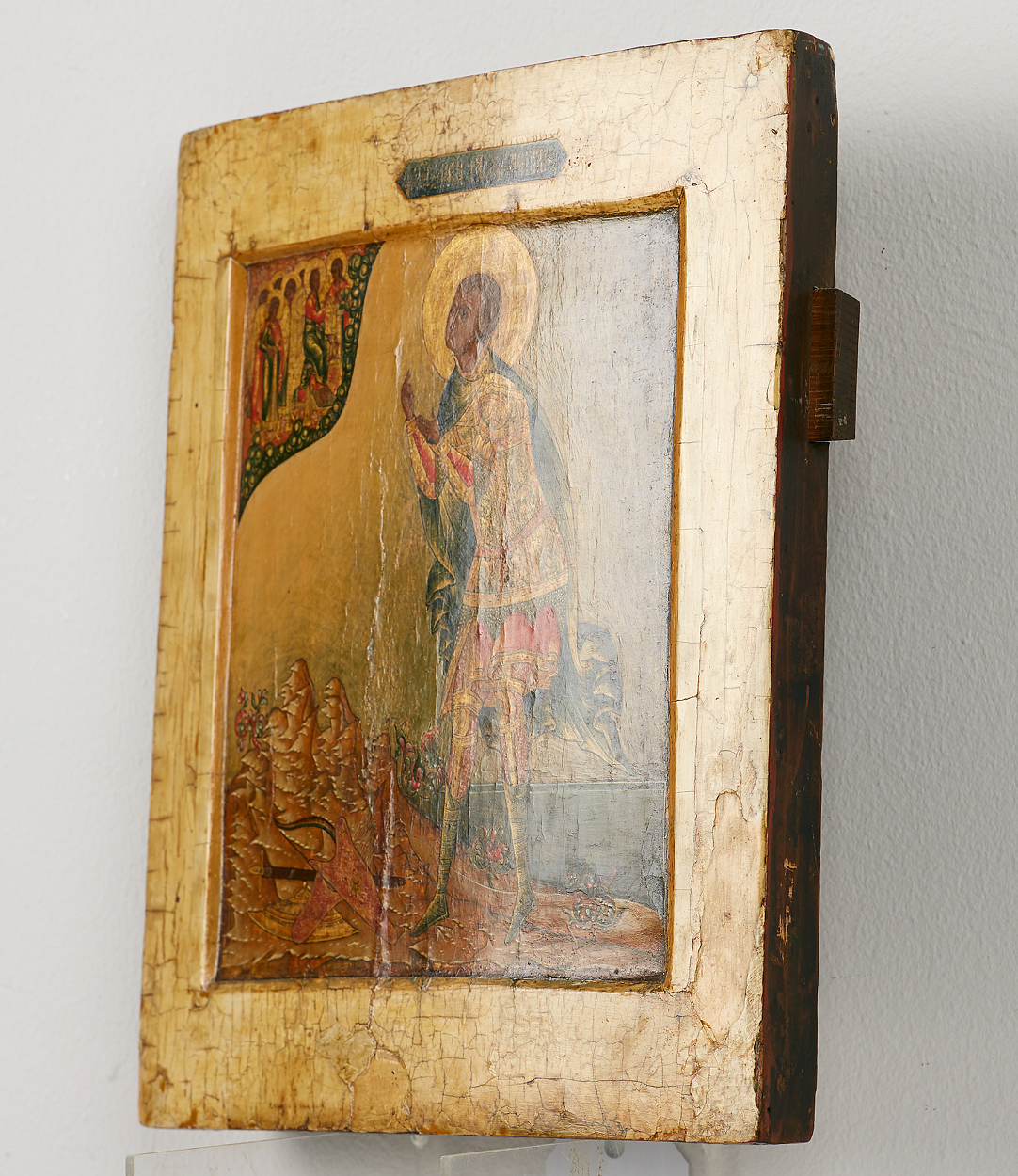 A Russian icon of the Sainted Martyr Dimitri