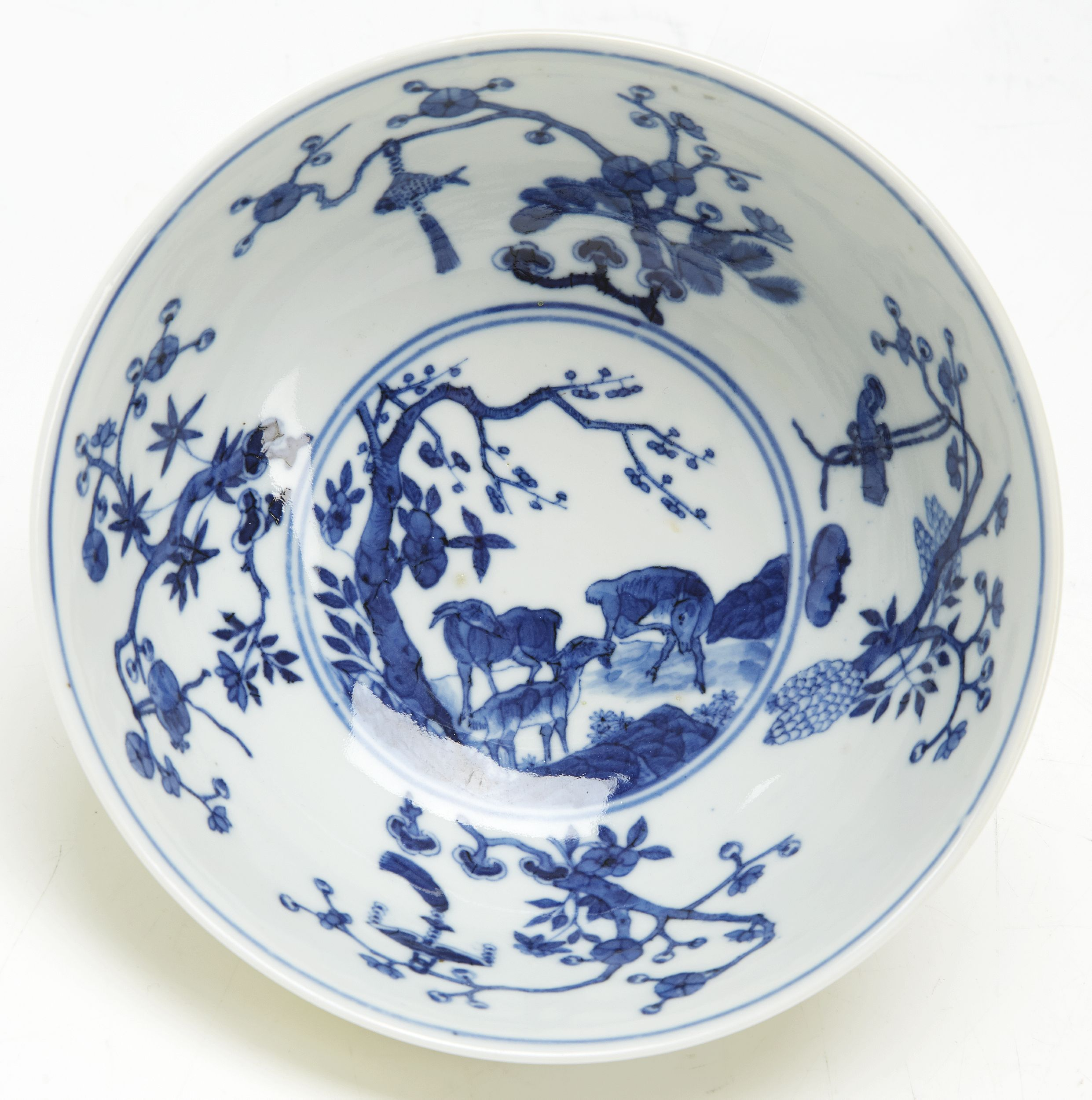 A Pair of Famille Rose Sgraffito Bowls