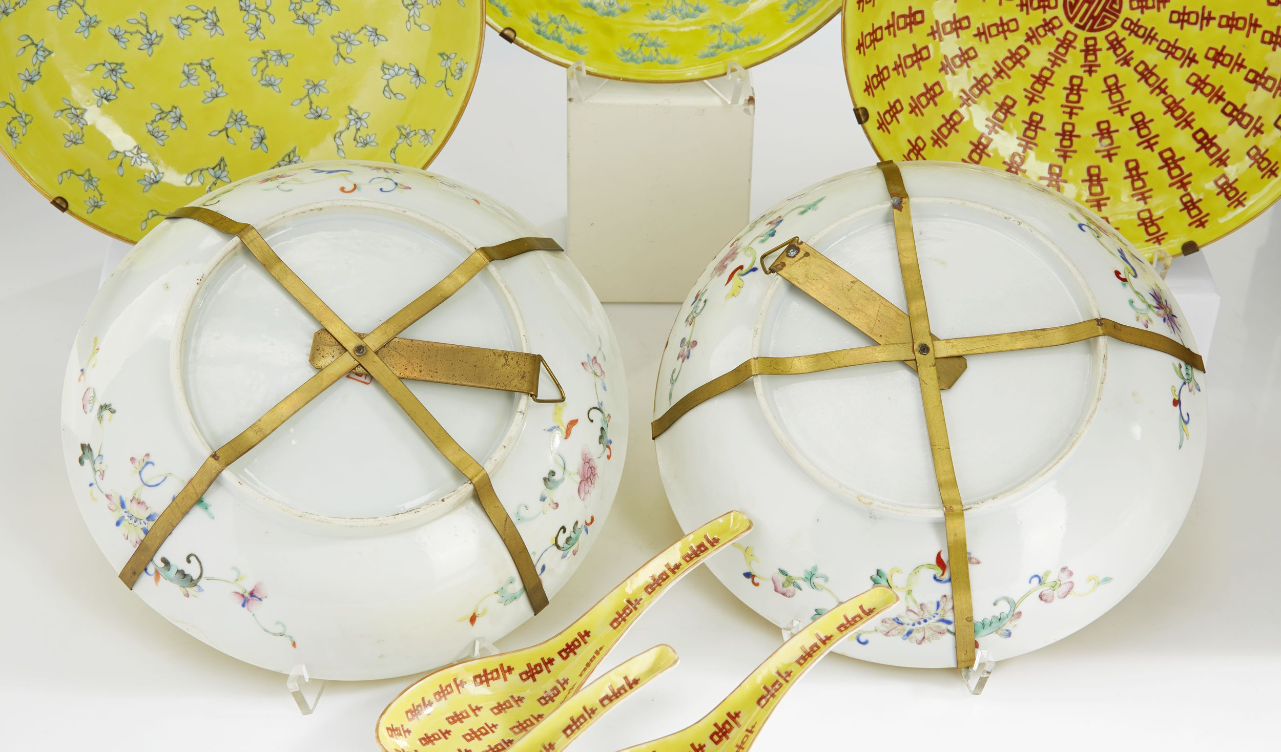A Set of Five Dishes and Three Spoons