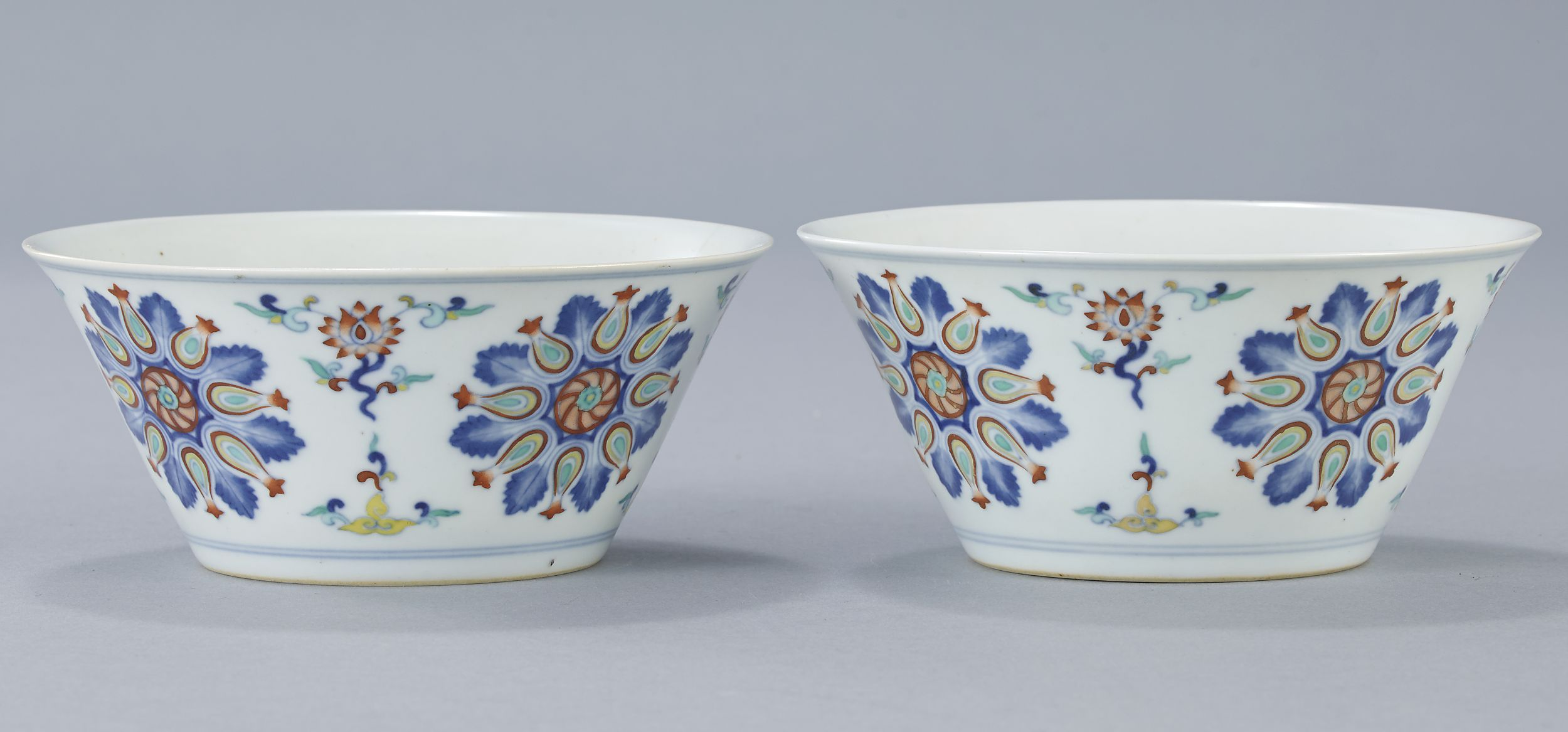A Pair of Doucai Bowls