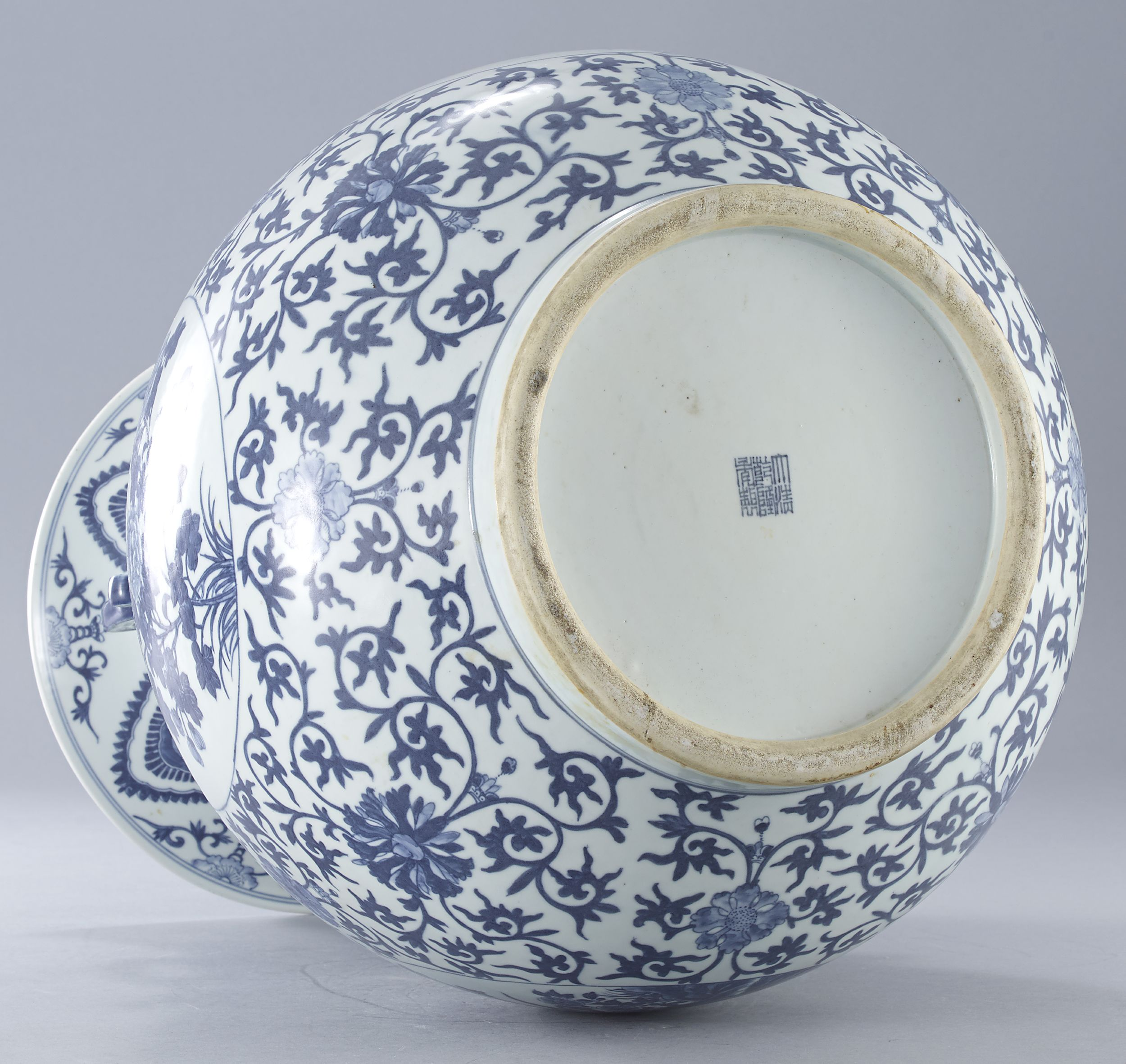 A Large Blue and White Vase