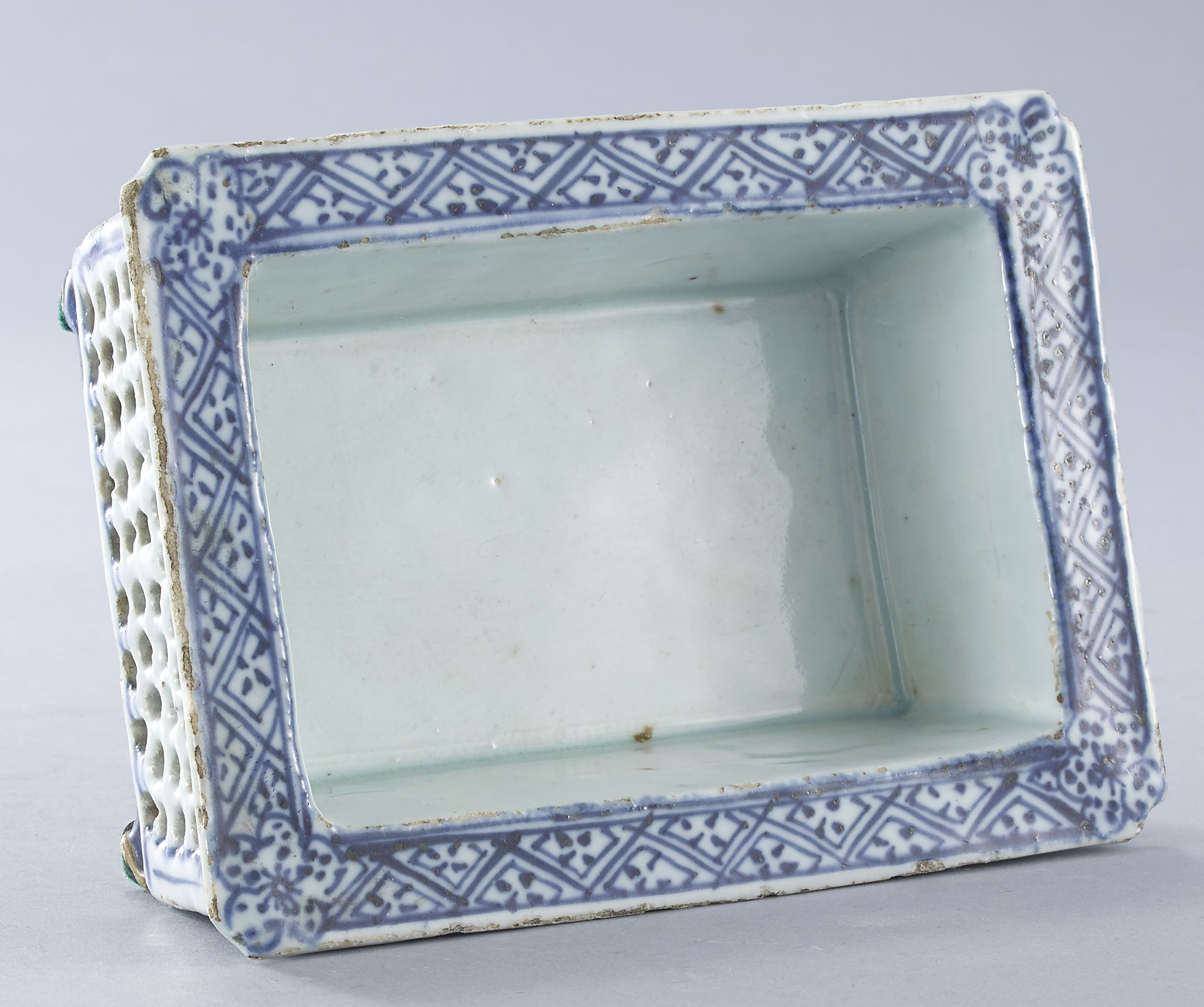 A Blue and White Jardinière