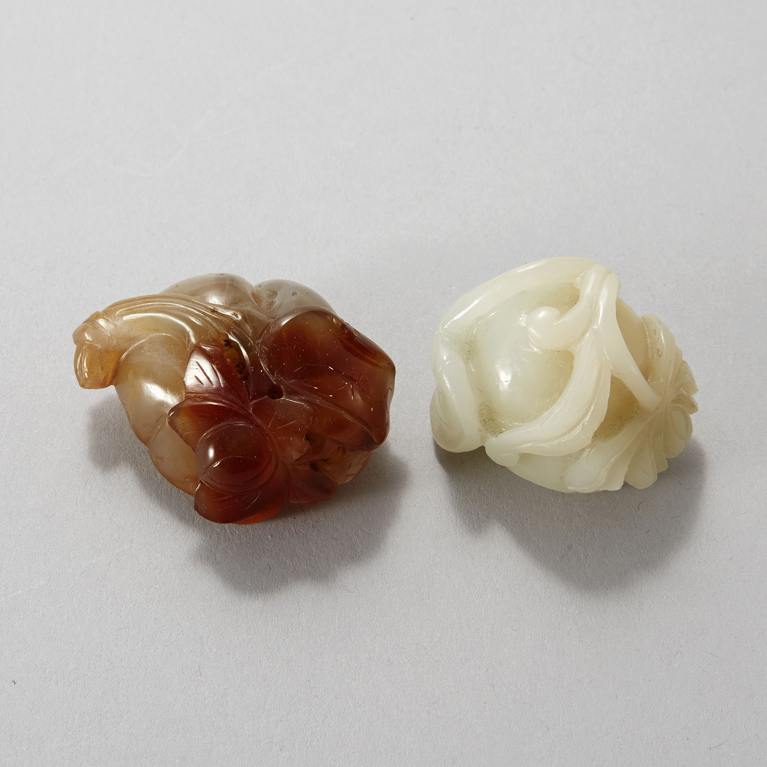 A Jade and An Agate Carvings