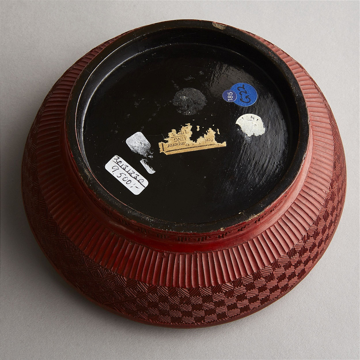 A Cinnabar Lacquer Circular Box and Cover