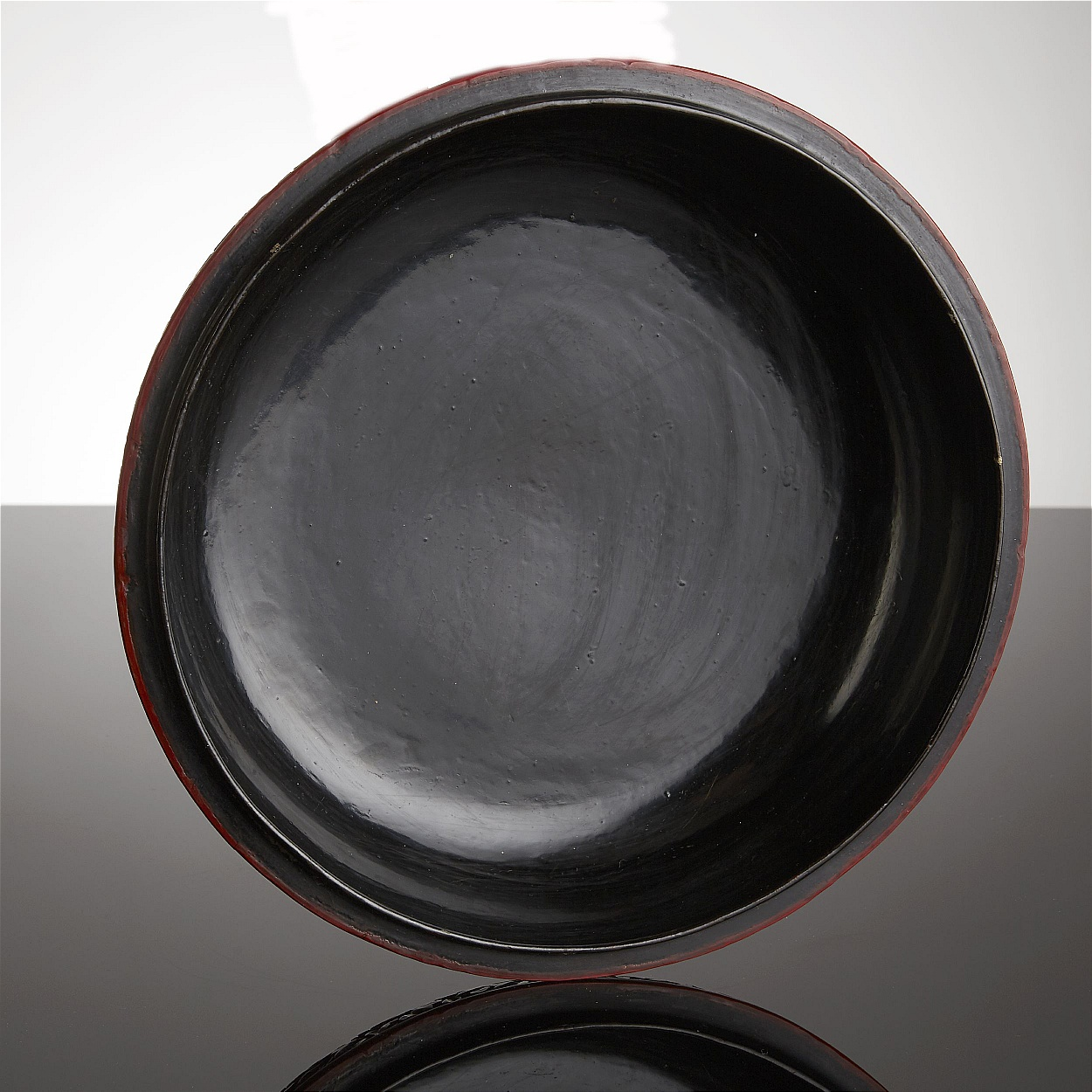 A Carved Cinnabar Lacquer Circular Box and Cover