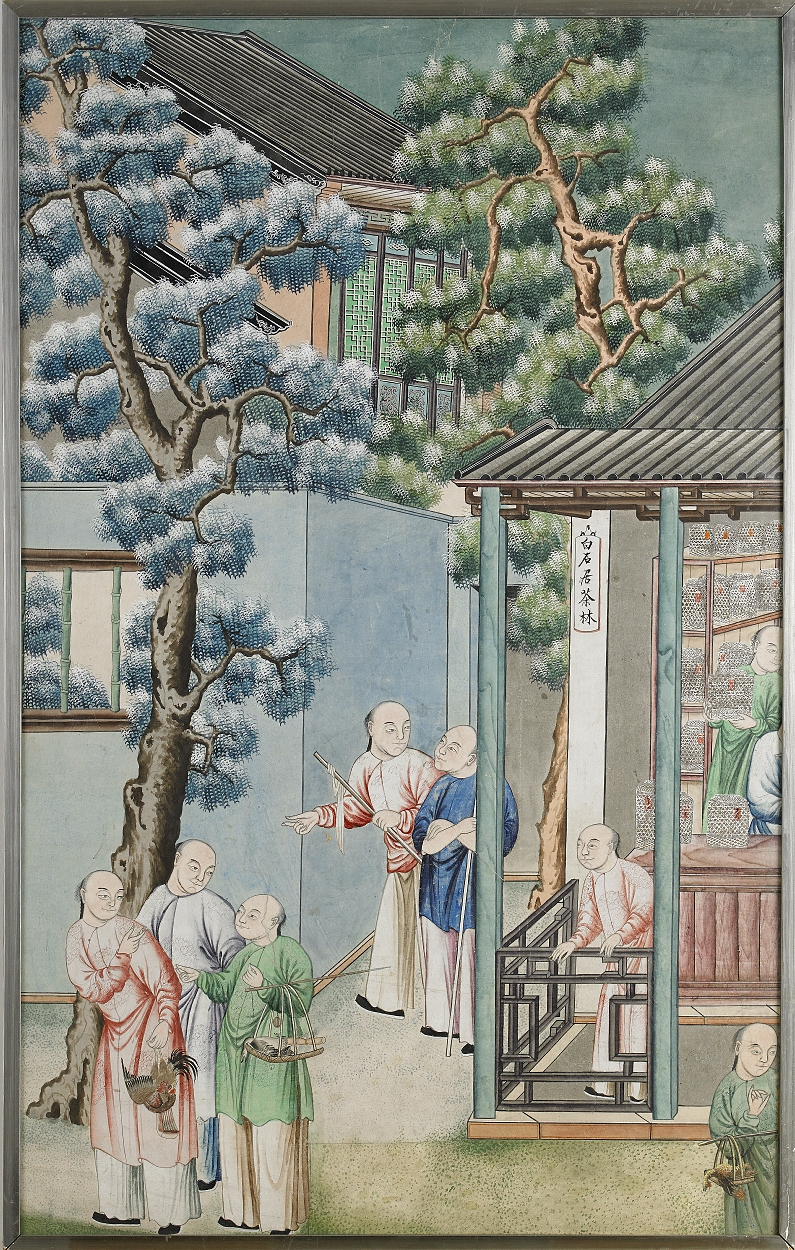 A Chinese School Export Gouache on Paper