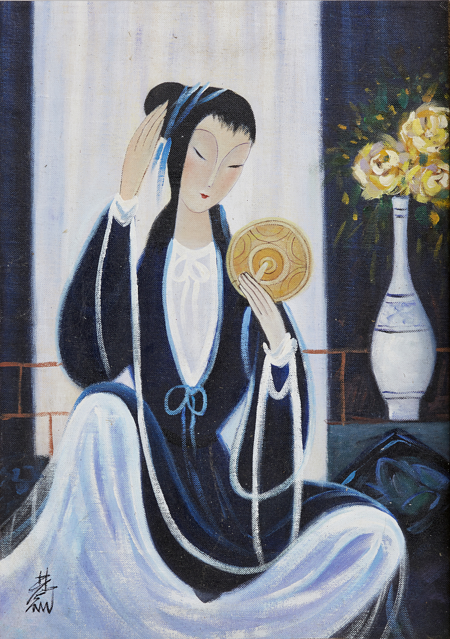 Lin Fengmian, Lady looking in a mirror