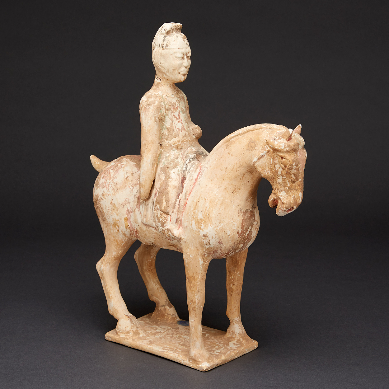 A Pottery Horse and Rider