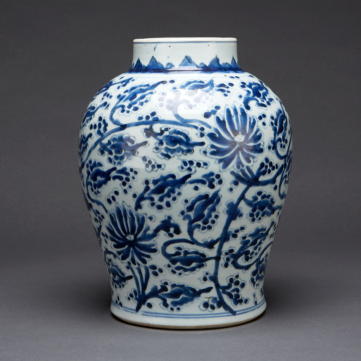 A Blue and White Lotus Jar