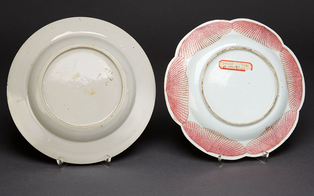 A Set of Four Enamelled Plates