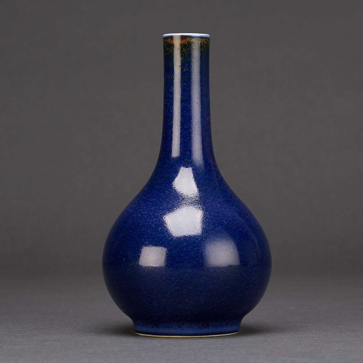 A Powder-Blue Glazed Bottle Vase