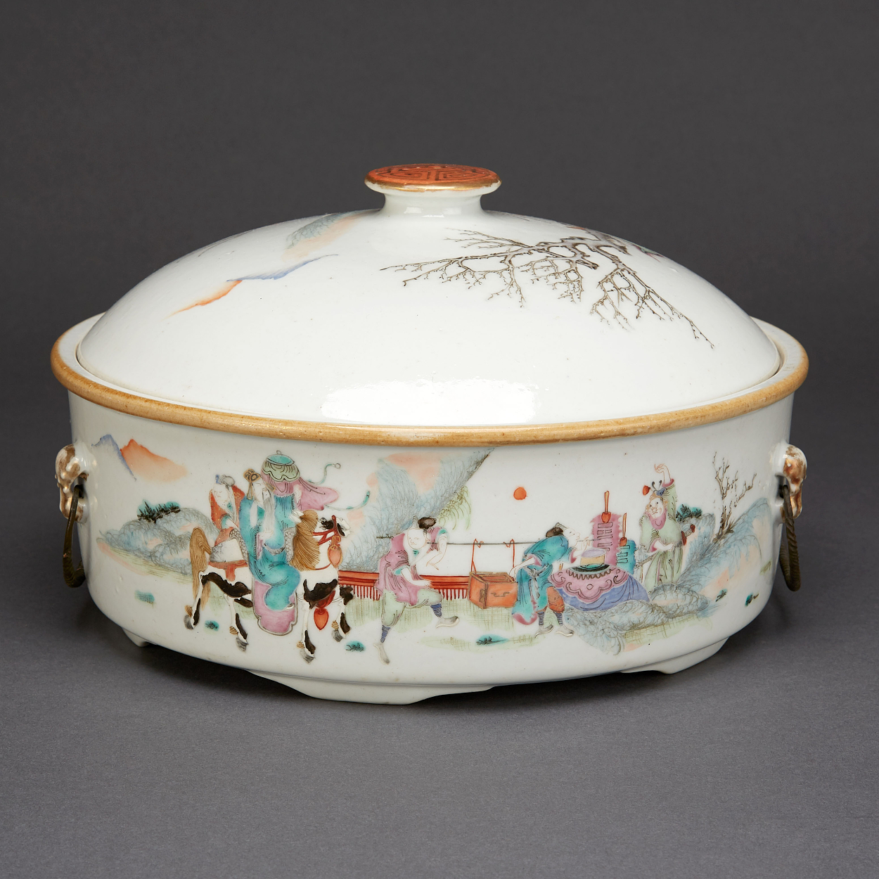 A Famille Rose Tureen and Cover