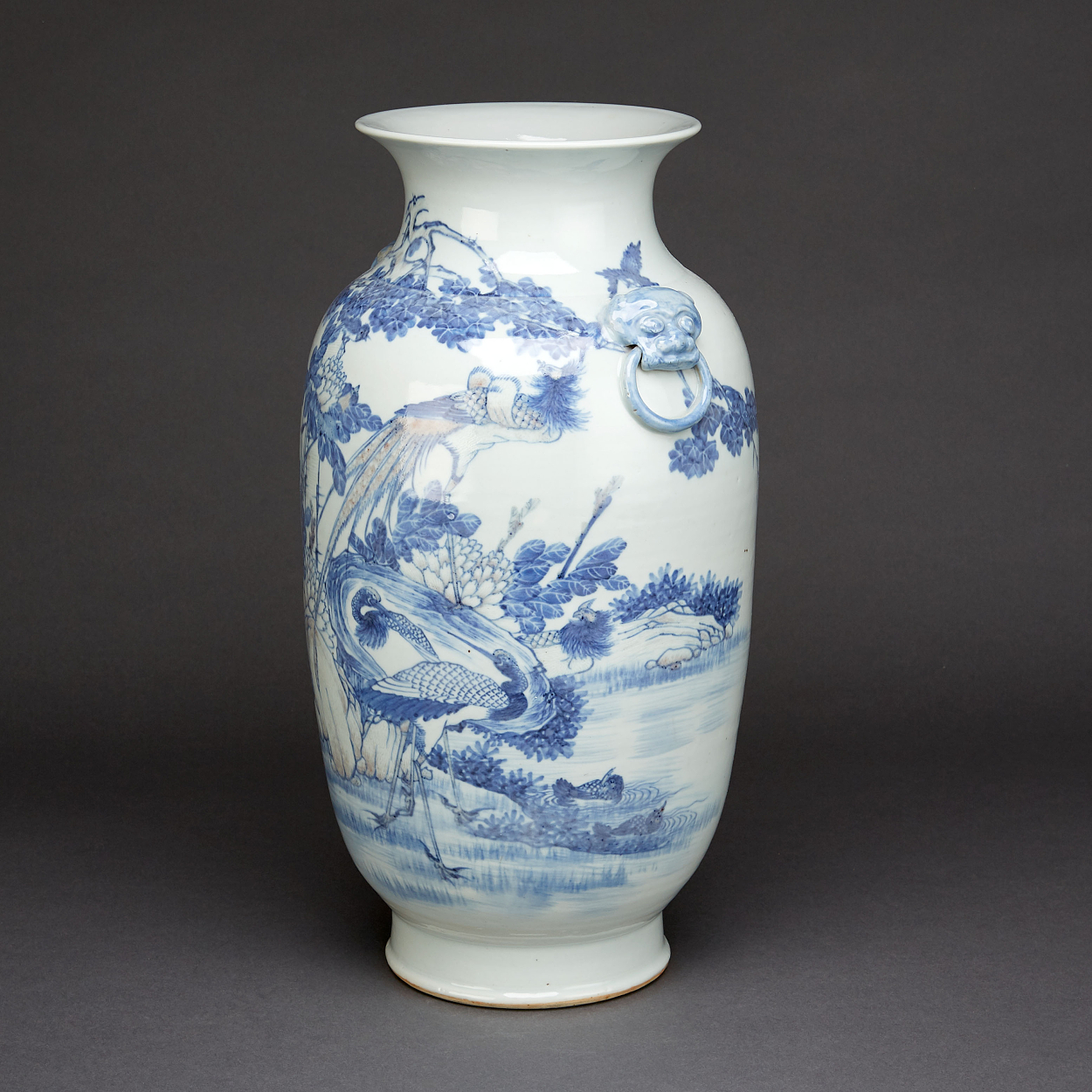 An Underglaze Blue and Red Vase