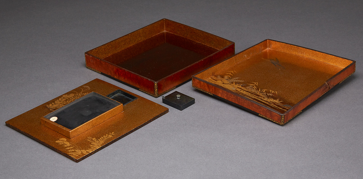 A Lacquered 'Suzuribako' Box for Writing Utensils