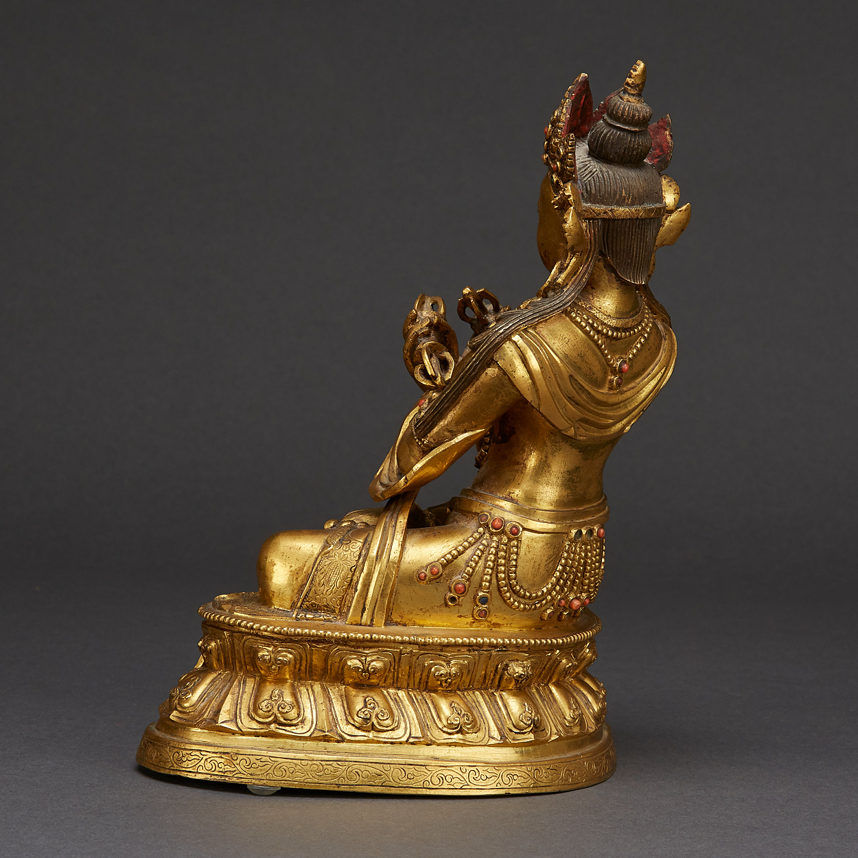 A Tibeto-Chinese Gilt Bronze Figure of Vajradhara