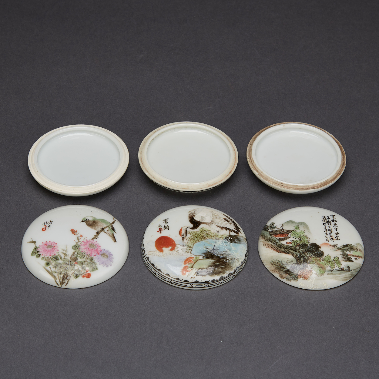 Eight Famille Rose Porcelain Objects