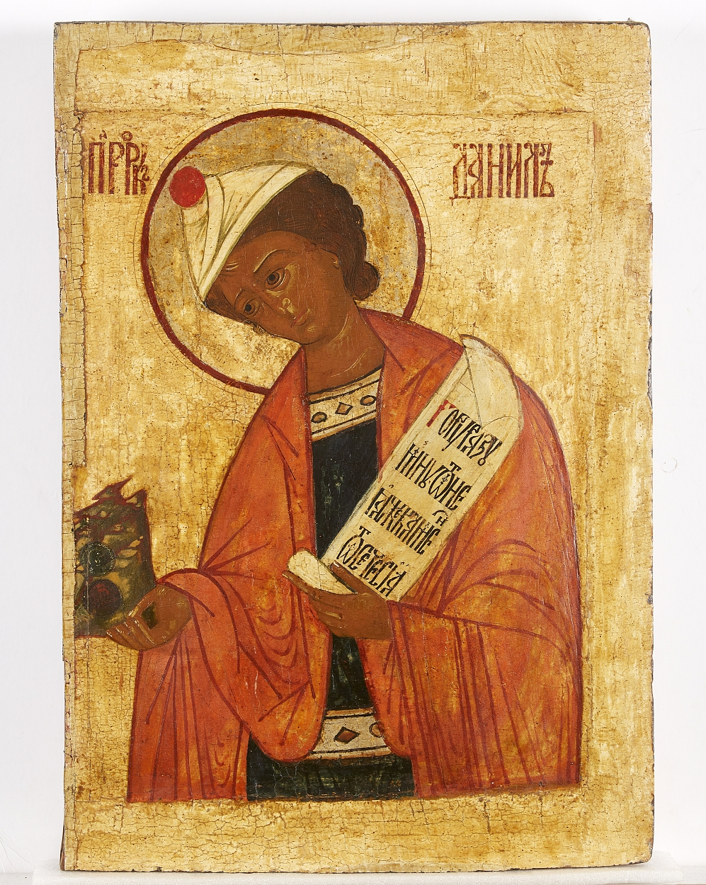 A Russian icon of Daniel the Prophet, 16th century