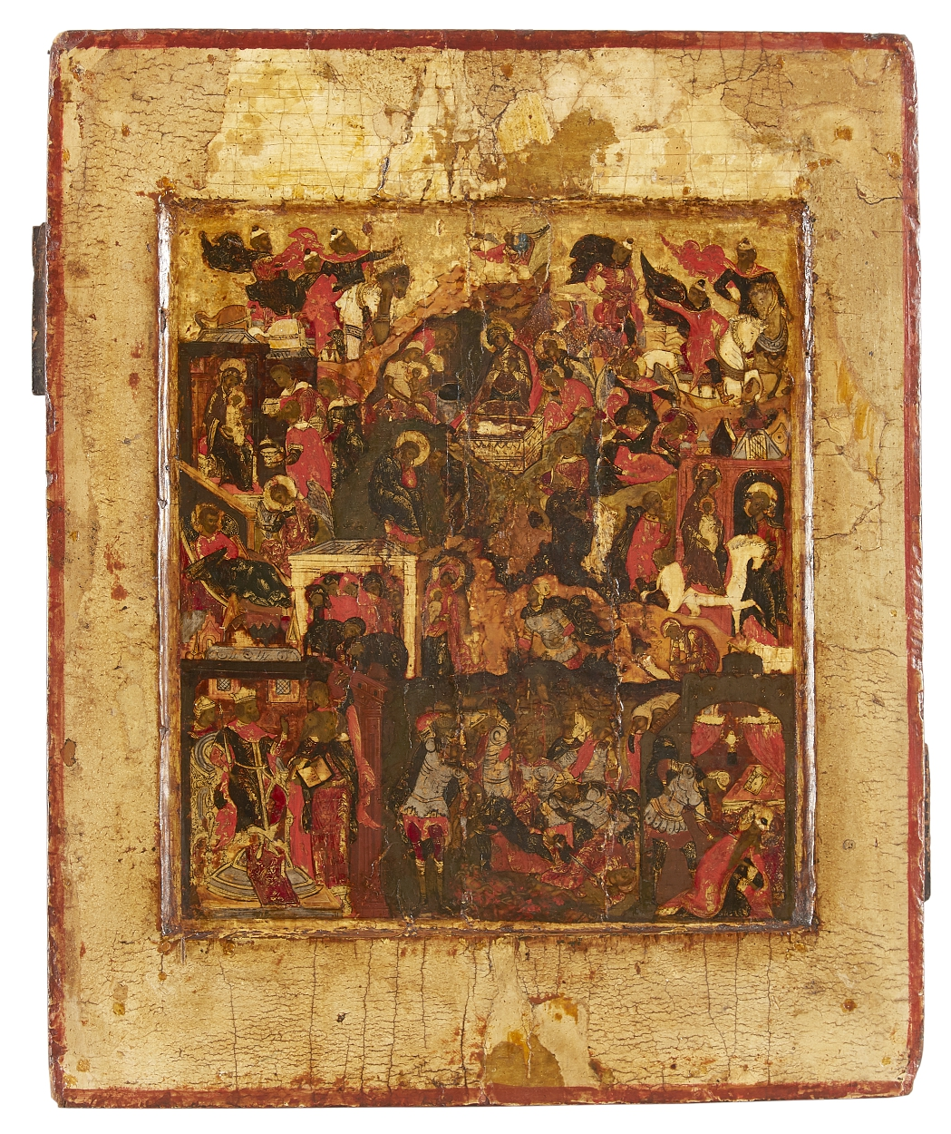 A Russian icon of The birth of the Christ