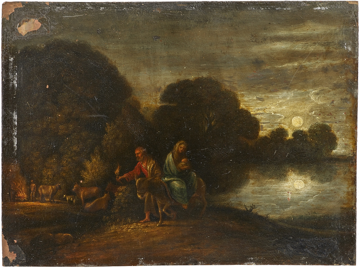 follower of Adam Elsheimer, The flight into Egypt