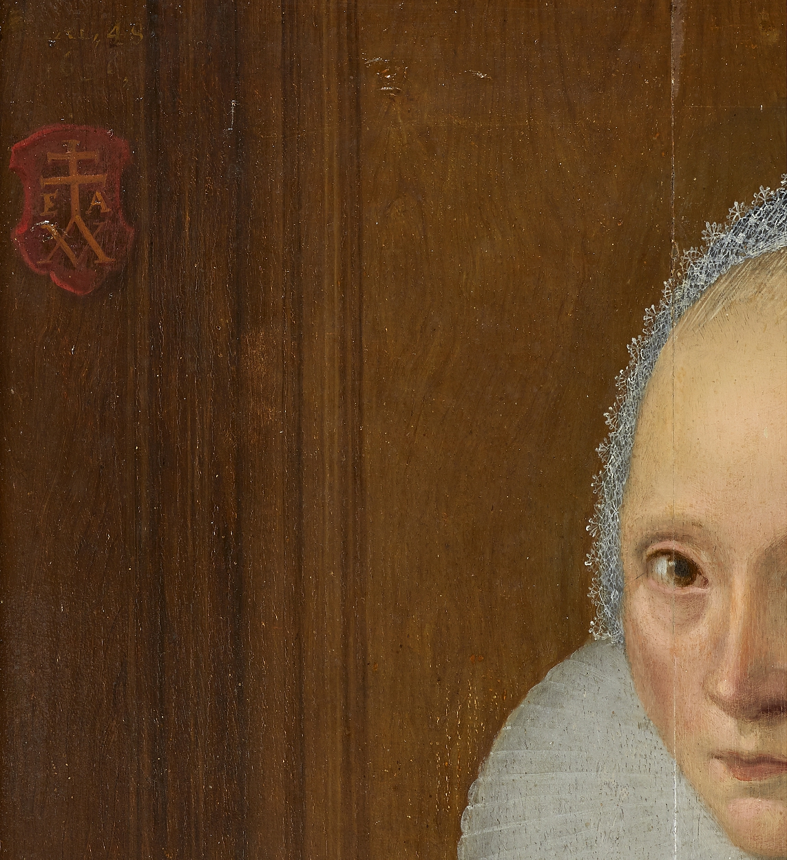 Frisian school, Portrait of a Lady aged 48