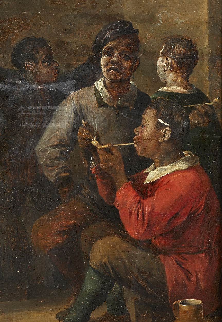 In the manner of Teniers, Smoking sailors