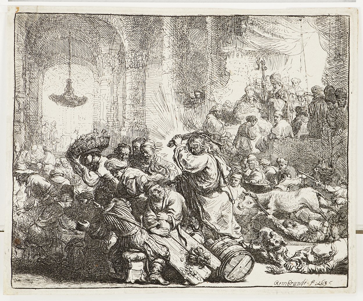 Rembrandt, Christ Driving the Money Changers from