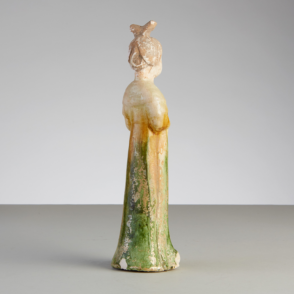 A Sancai-Glazed Pottery Figure of a Court Lady