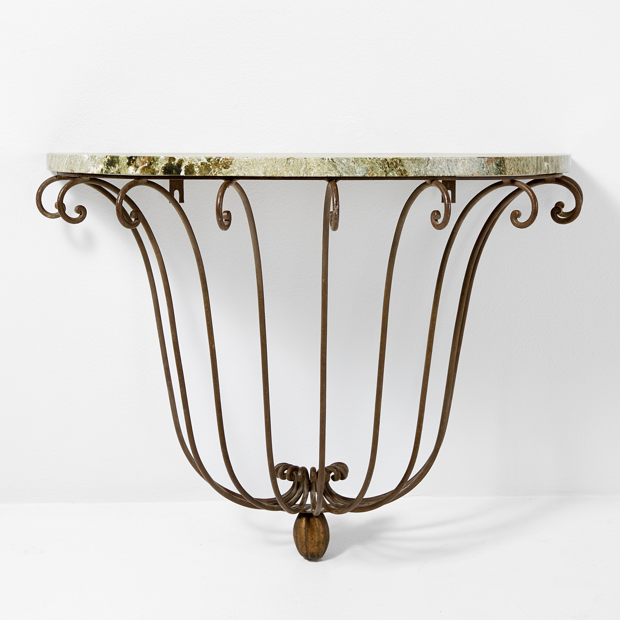 A console table, iron and marble