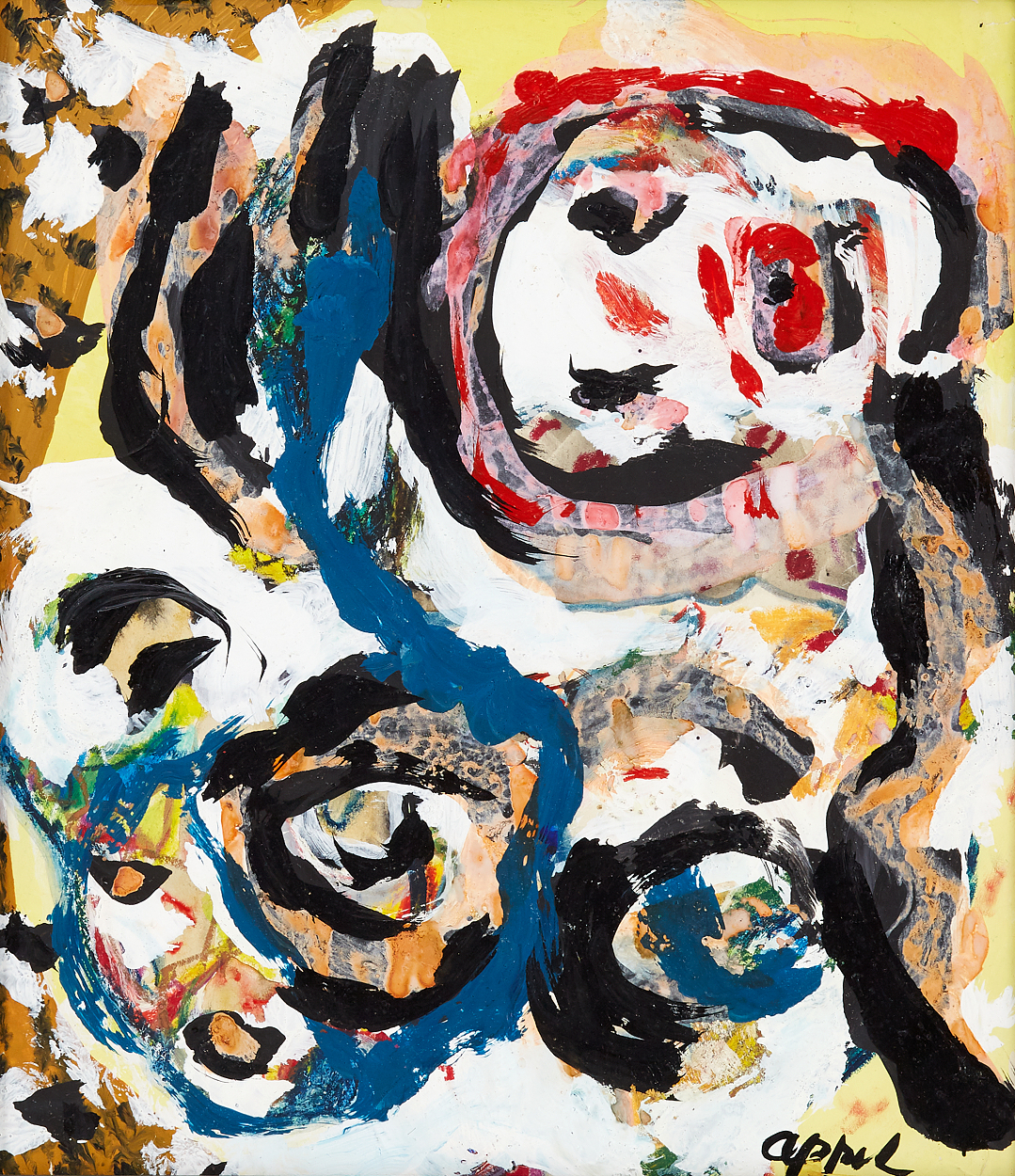 Karel Appel, Comopisition