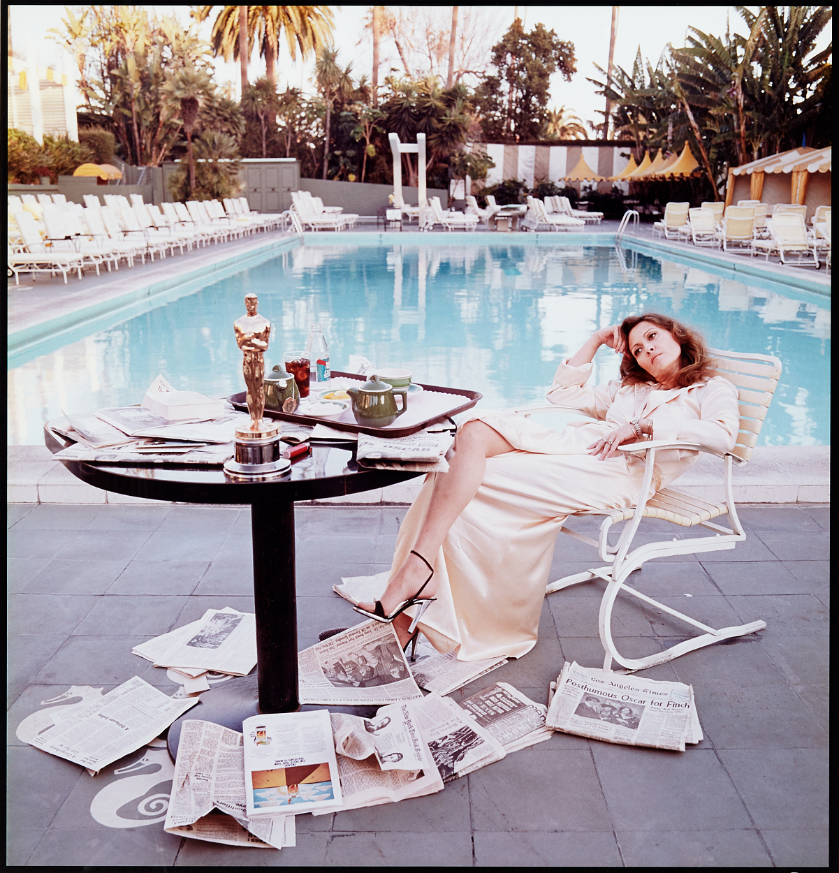 Terry O'Neill, Faye Dunaway, Hollywood 1977