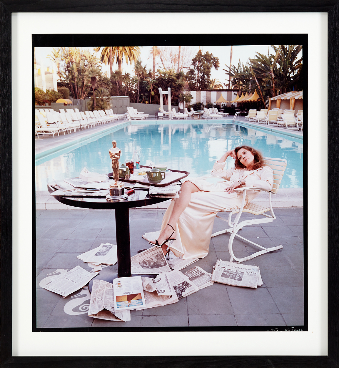 Terry O'Neill, Faye Dunaway - Hollywood 1977