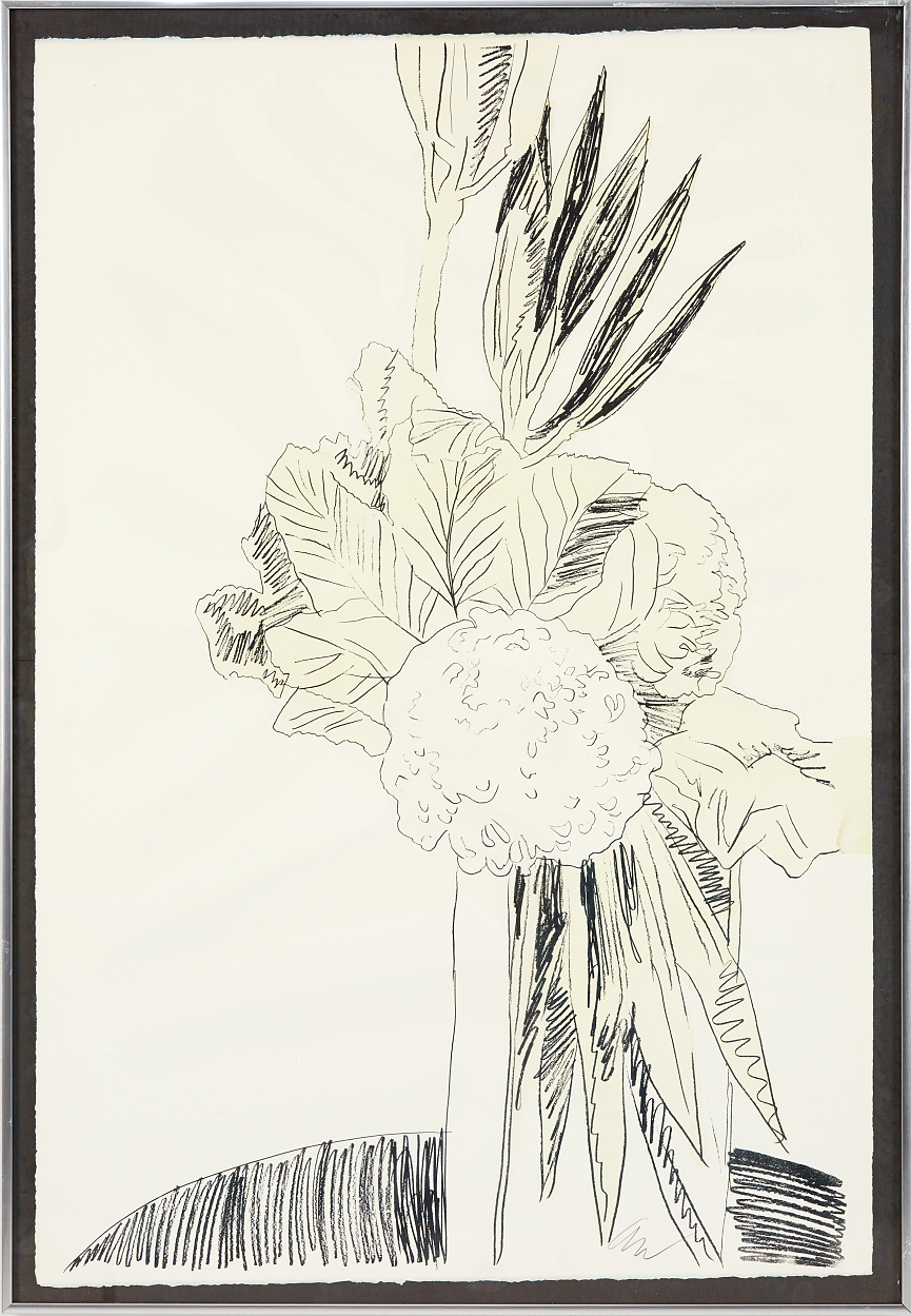 Andy Warhol, Flowers (Hand colored)