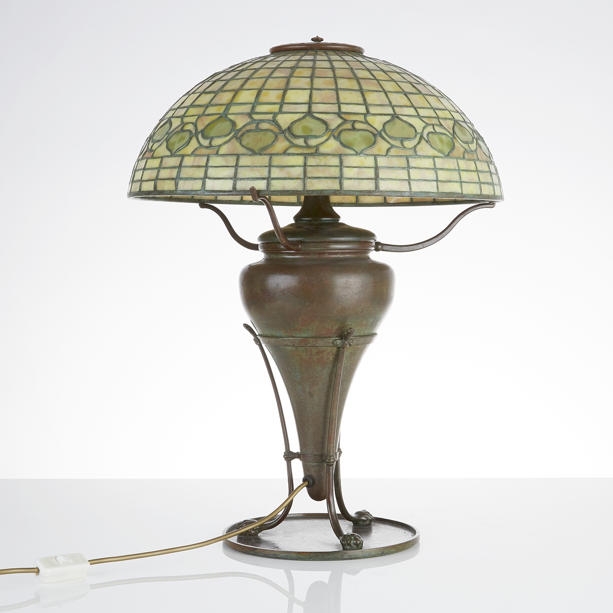 "A Louis Comfort Tiffany Vine and leaf"", table lamp"