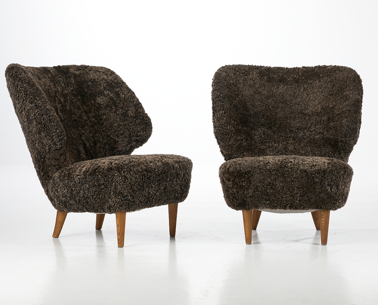 A pair of Sven Staaf easy chairs, 1940´s