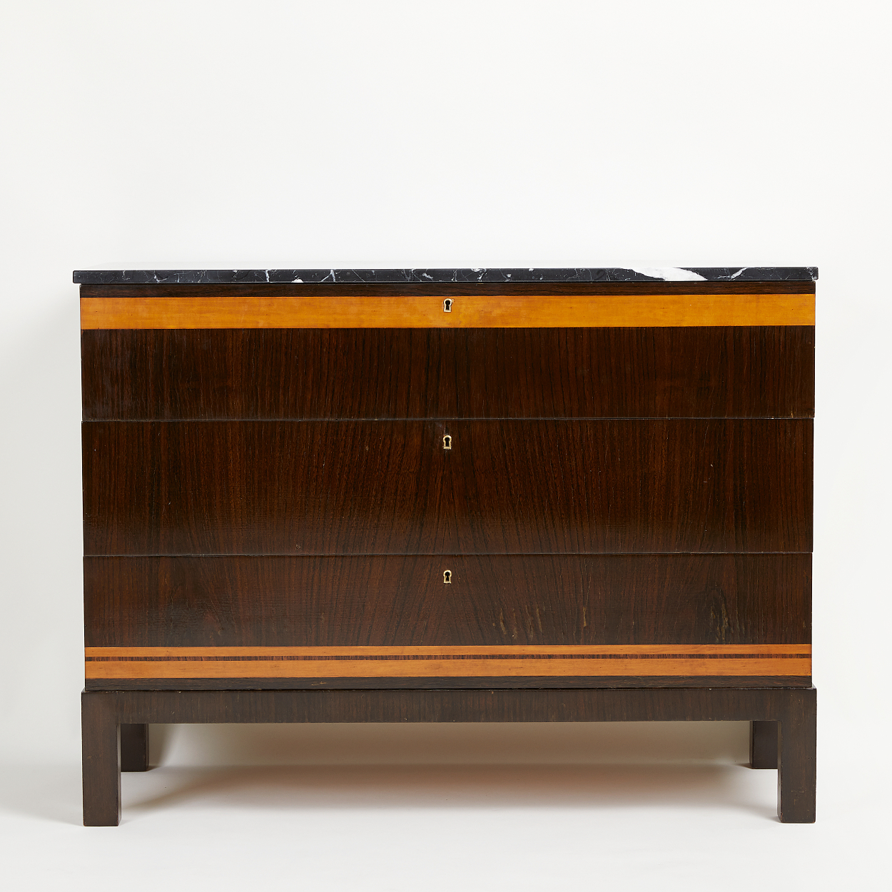 A chest of drawers, attributed to Otto Schulz