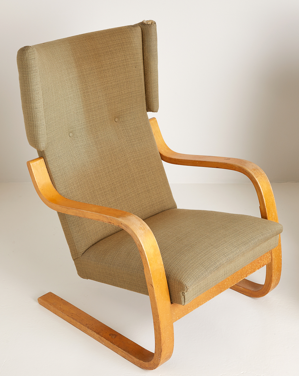 A pair of Alvar Aalto easy chairs