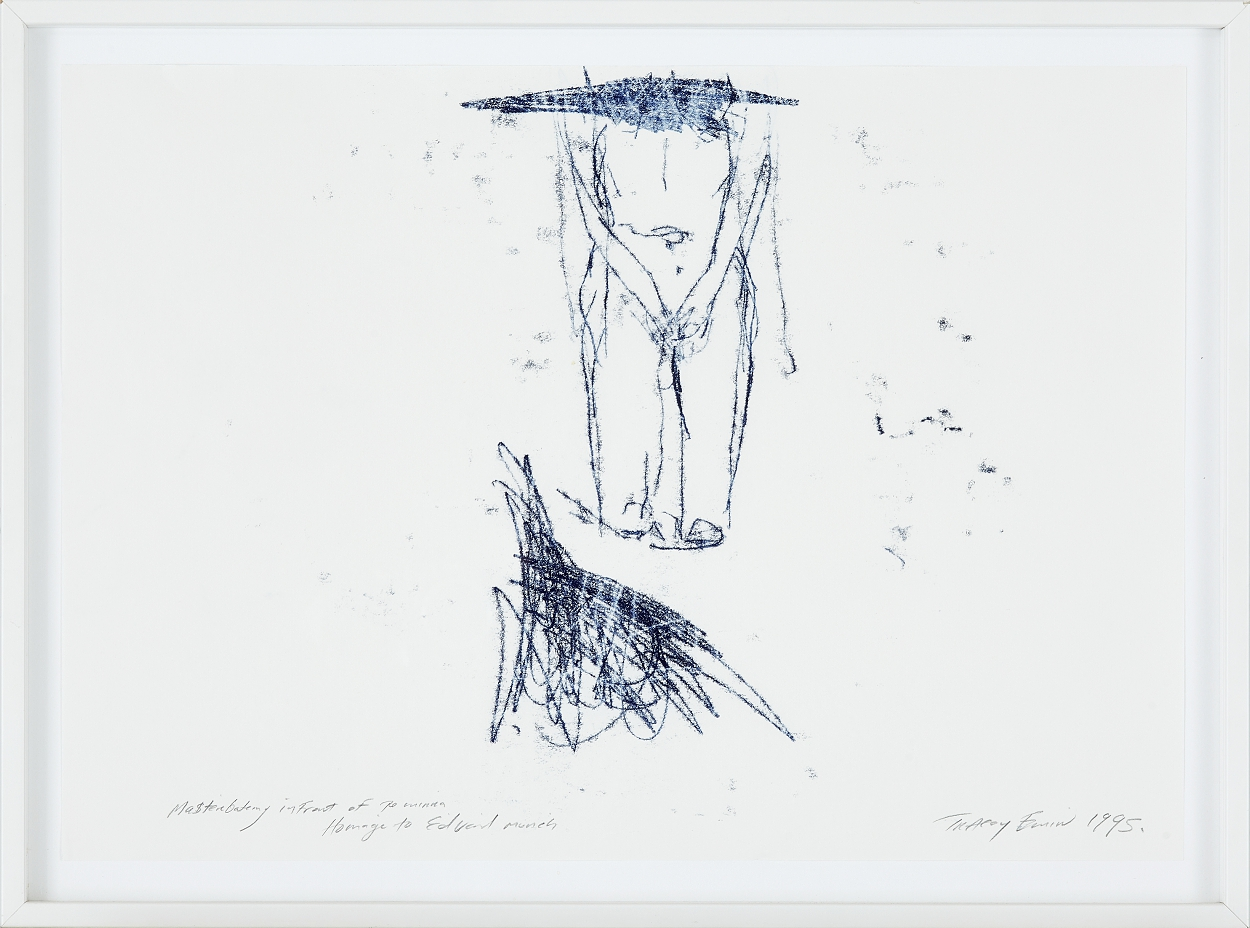 Tracey Emin, Masterbating infront of the mirror