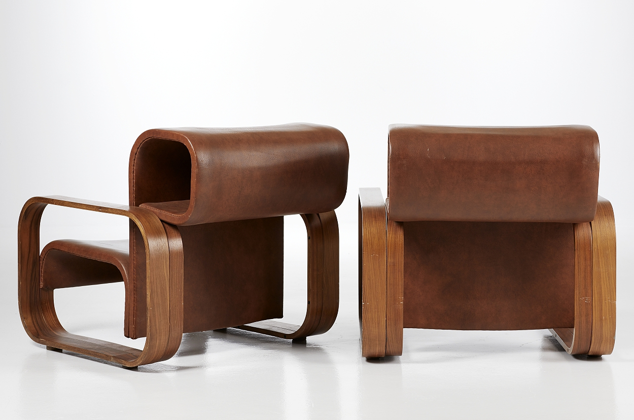 A pair of Jan Bocan easy chairs, 1970´s