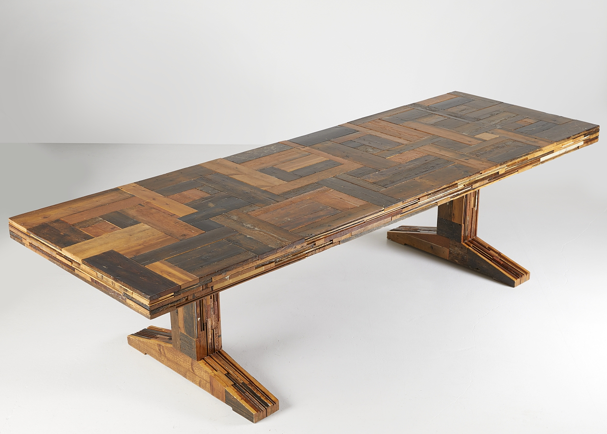 "Piet Hein Eek, ""Canteen Scrapwood Table"","