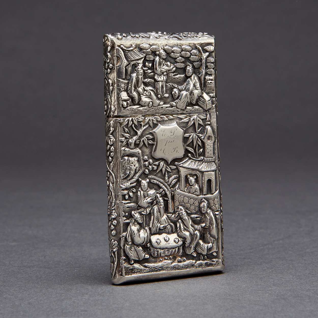 A Silver Card Case by Luen Wo