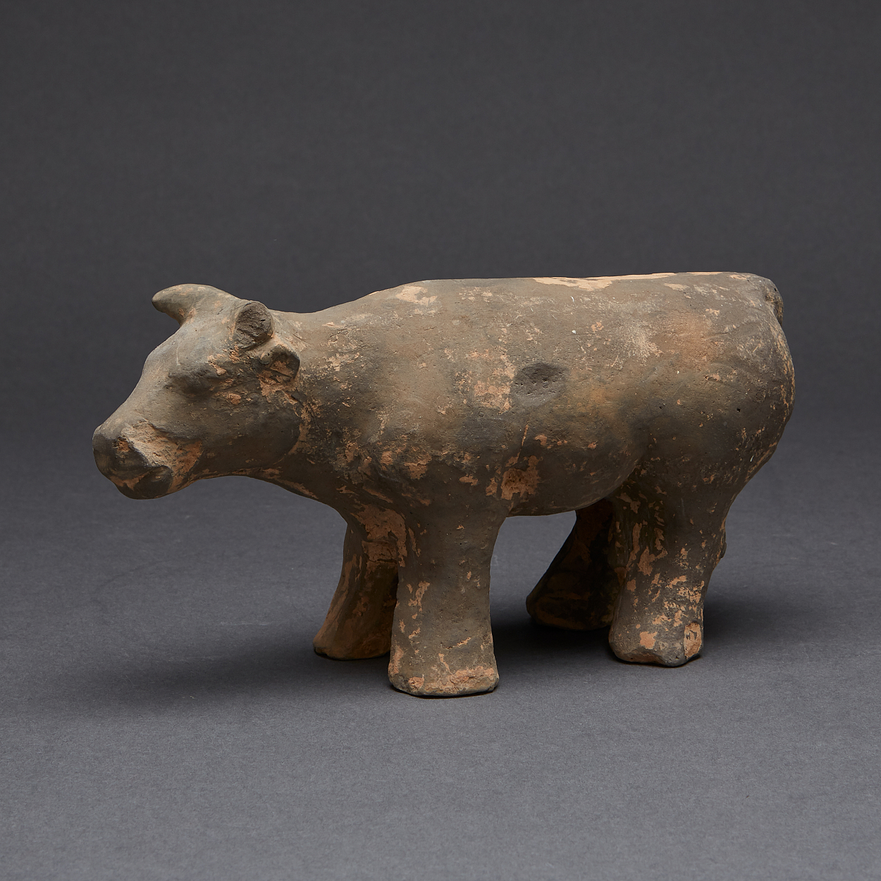 A Painted Pottery Model of an Ox
