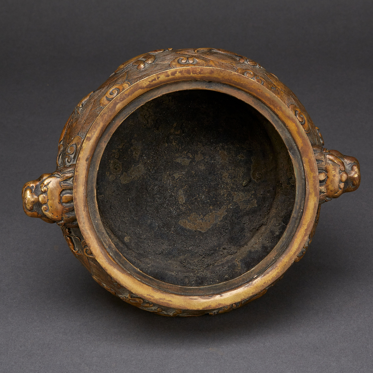 A 'Mythical Beast' Bronze Censer and Cover