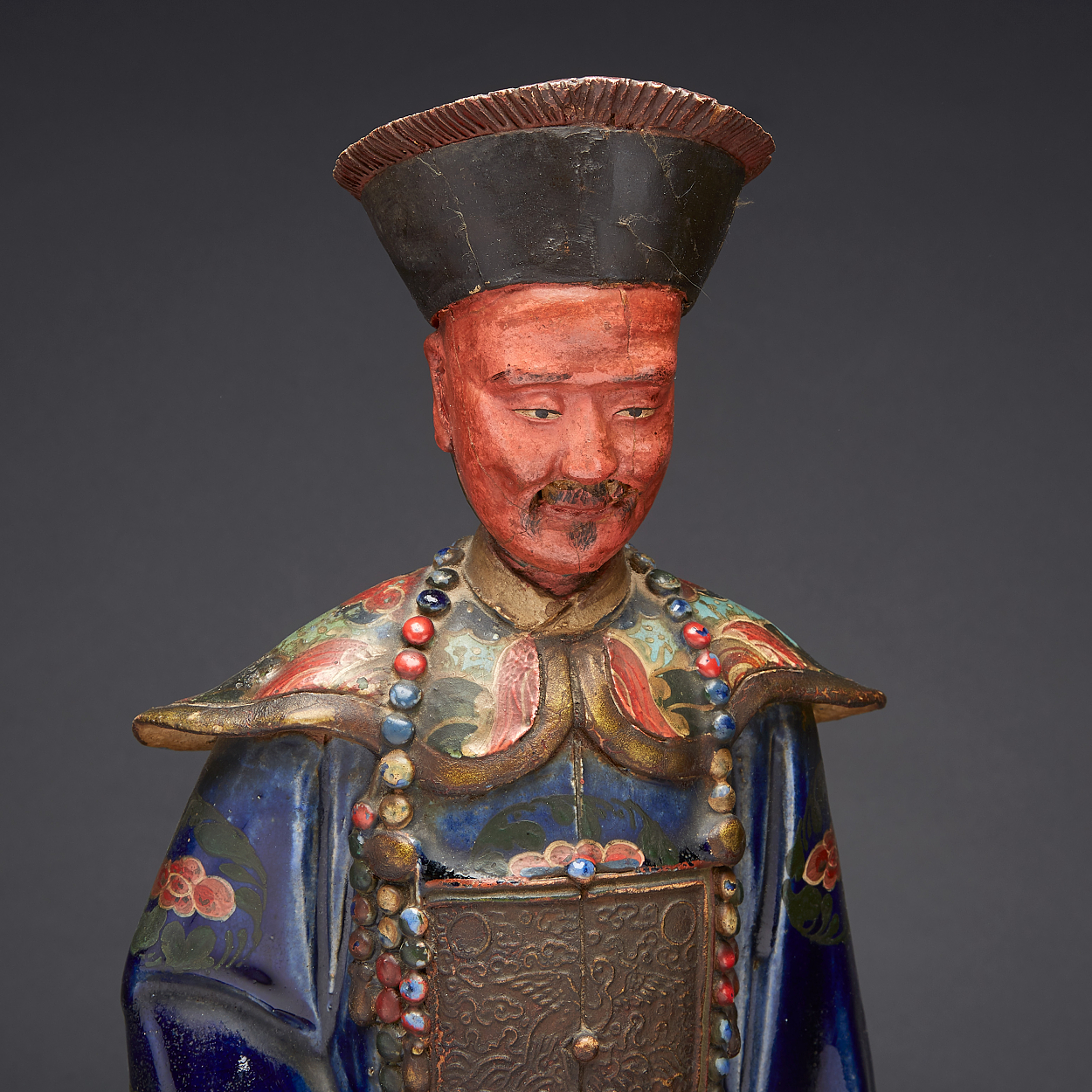 A Pair of Polychrome Figures