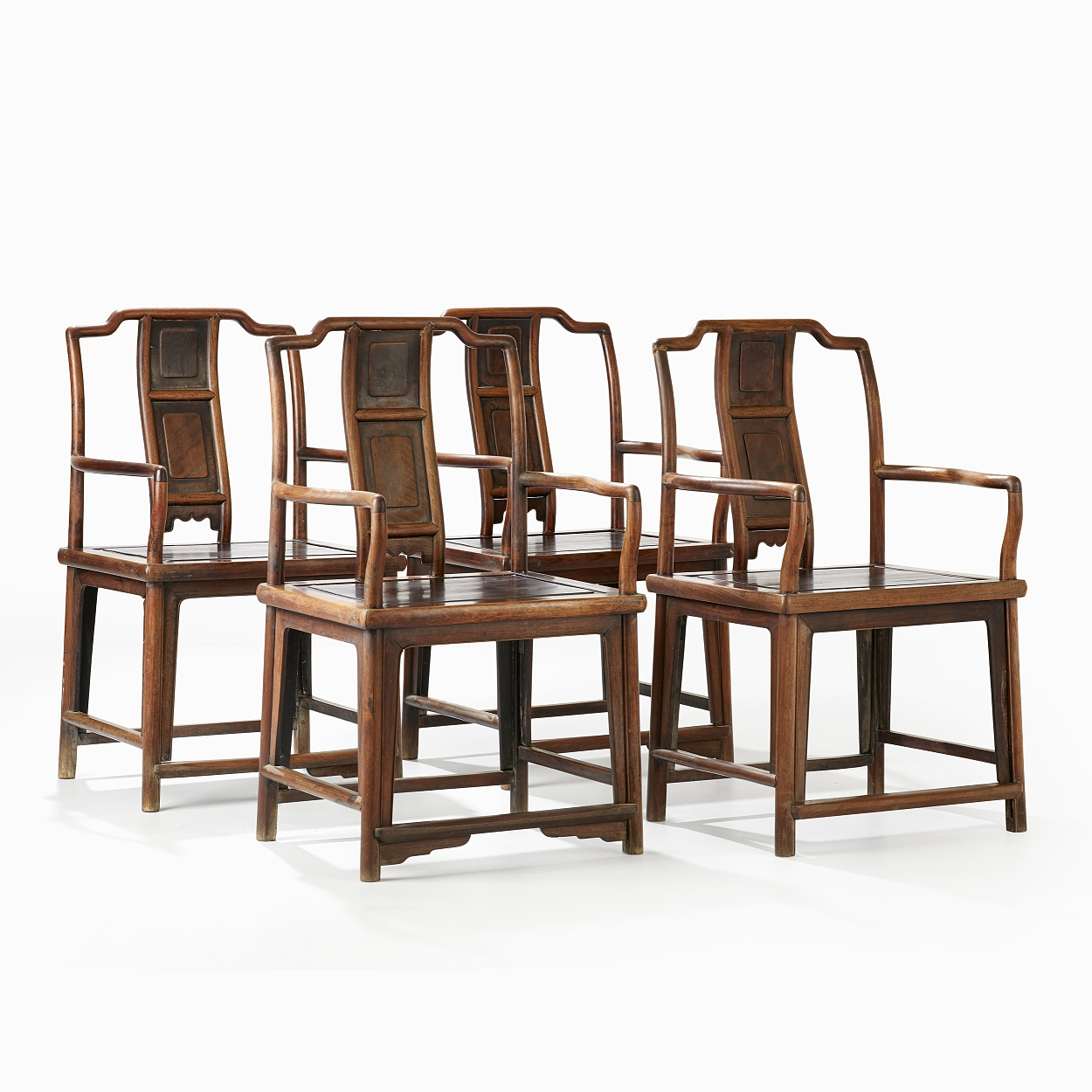 A Set of Four Armchairs