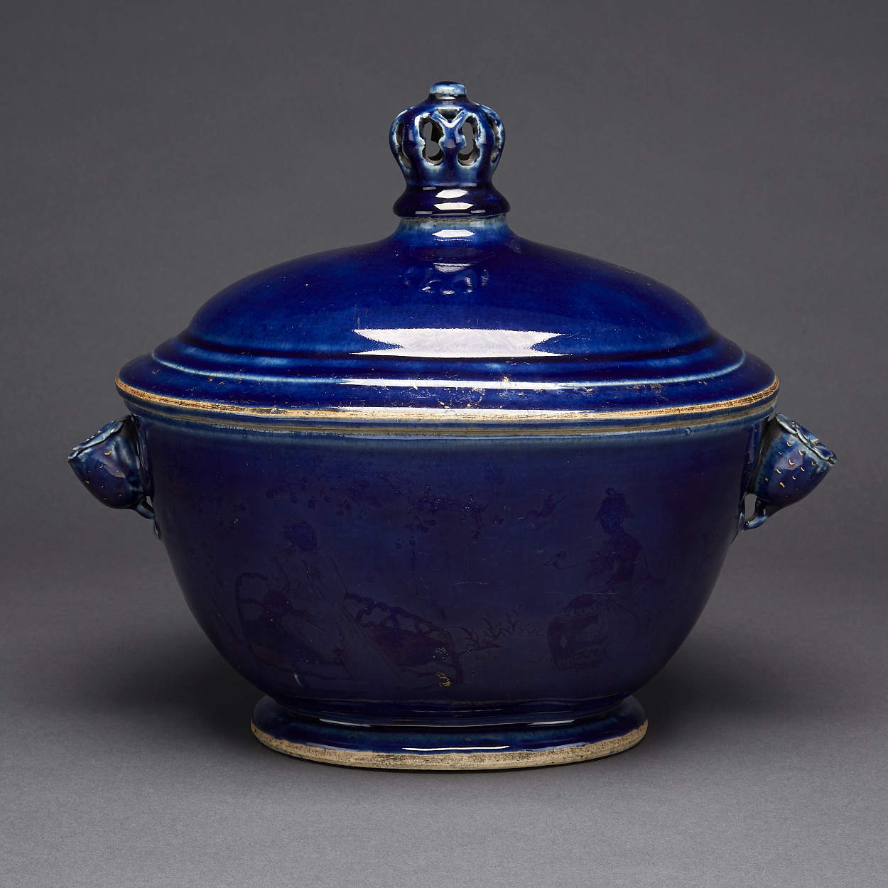 A Powder Blue Tureen and Cover