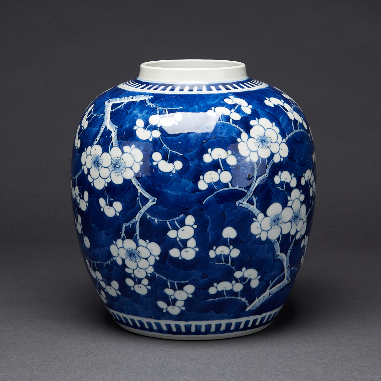 A Blue and White Prunus Jar